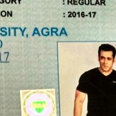 Uttar Pradesh: College marksheet with actor Salman Khan's photograph goes viral
