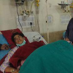 A shattered kidney and gall bladder: Pellet guns grievously injure a Kashmiri schoolboy