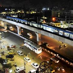 Narendra Modi launches Hyderabad's first metro train, takes inaugural ride