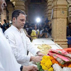 Congress says images showing Rahul Gandhi registered as non-Hindu at Somnath temple are 'fabricated'