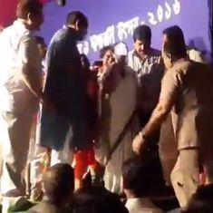Watch: Bengal CM Mamata Banerjee mistakes a torch for a microphone. Twitter breaks loose
