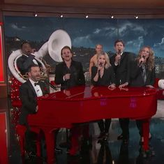 Watch: Stars join Jimmy Kimmel to mock themselves in song, to raise funds for fighting HIV and AIDS
