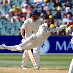 Watch: Nathan Lyon's one-handed stunner to rub salt in England's wounds