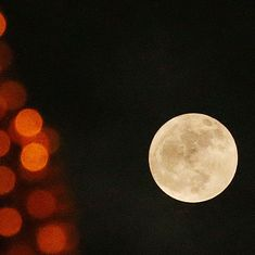 In photos: First of the 'supermoon trilogy' mesmerises skywatchers