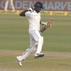 'Had to work extremely hard for runs': Mathews relieved after first Test ton in 2 years