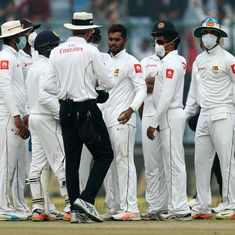 Sri Lanka pacer Lakmal vomits on fourth day of smog-choked Delhi Test