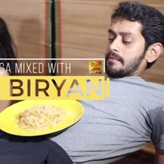 Watch: After beer yoga and goat yoga, biryani yoga is newest fad – at least according this comedian