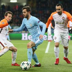 City crash to first defeat of season after Shakhtar seal last 16 spot with stunning 2-1 win