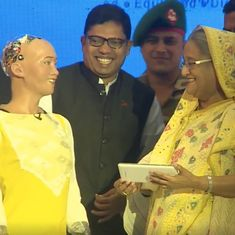 Watch: Sophia the humanoid robot made a great first impression on Bangladesh's Prime Minister