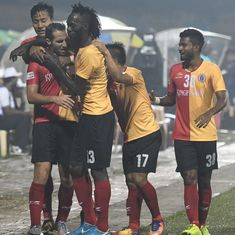 East Bengal shake off disappointment of derby loss by putting five past Shillong Lajong