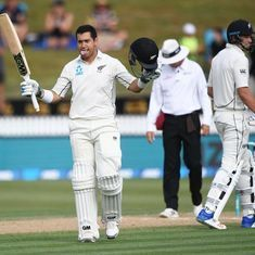 New Zealand close in on series sweep after Ross Taylor hits record-equalling 17th century