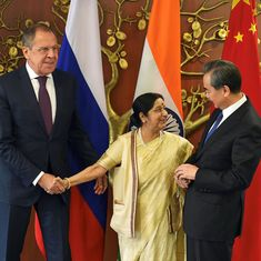 Terror, climate change, economy rule talks as Sushma Swaraj meets Russian, Chinese foreign ministers