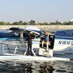 Fact check: Was Modi the first passenger to ride in India's first seaplane, as his website claimed?