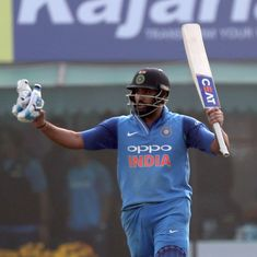 'Devastating yet so classical': Twitter in awe after Rohit Sharma's third ODI double ton