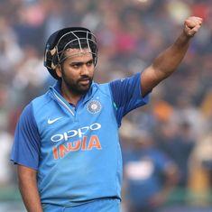 वनडे बल्लेबाजों की आईसीसी रैकिंग में रोहित शर्मा पांचवें स्थान पर पहुंचे