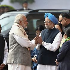 Narendra Modi, Manmohan Singh greet each other at ceremony to mark 2001 Parliament attack