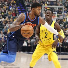 NBA: Paul George makes emotional and successful return to Indiana as Thunder edge Pacers