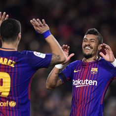 Suarez, Paulinho on fire as Barcelona move 11 clear of Real Madrid ahead of El Clasico