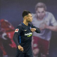 Bundesliga: Davie Selke inspires 10-men Hertha Berlin to a surprise win over RB Leipzig