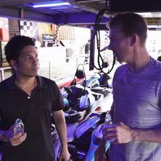 Watch: Brett Lee and Sachin Tendulkar revisit their rivalry on a race track