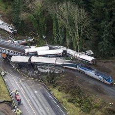 अमेरिका : ट्रेन पटरी से उतरी, छह की माैत