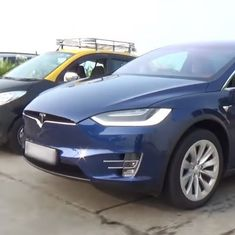 Watch: Perhaps the first Tesla X to hit India was spotted cruising on Mumbai's roads by passers-by