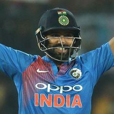 रोहित शर्मा की तूफानी पारी, मात्र 35 गेंदों में शतक जड़ा