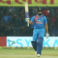 'Arguably the greatest six hitter of T20 era': Twitter in awe of Rohit Sharma's record ton