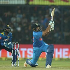 India thump Sri Lanka to clinch T20 series after Rohit Sharma's 35-ball century
