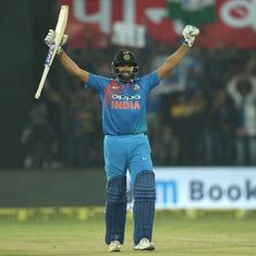 I don't walk out wanting to score a 100 or a 200: Rohit after hitting the fastest T20I century
