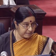 Claims of a device in the shoes worn by Kulbhushan Jadhav's wife is absurdity beyond measure: Sushma