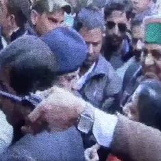Watch: Congress MLA from Himachal Pradesh and policewomen trade slaps