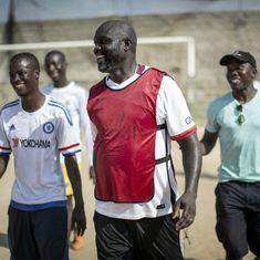 Football world celebrates as African hero George Weah is elected president of Liberia