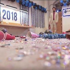 Watch: A hilarious New Year's party of the different years actually conveys a dire warning to 2018