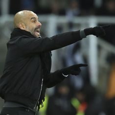 Pep Guardiola apologies to Burnley manager Dyche for his behaviour in the touchline row