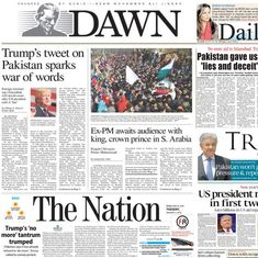 'New Year's bashing': Here's what Pakistani front pages say about Donald Trump's 'no more' tweet