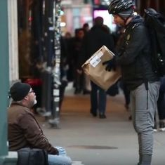 Watch: This is how a man used Amazon Prime's same day delivery to help the homeless