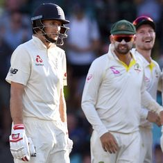 Root falls short of century yet again as Australia take day's honours with late strikes
