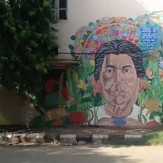 Watch: This is how amateur street artists in Delhi are transforming the drab walls of many buildings