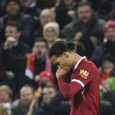 FA Cup: Virgil Van Dijk scores dramatic late winner on Liverpool debut against Everton