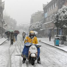 13 people dead in China's worst snowstorm since 2008