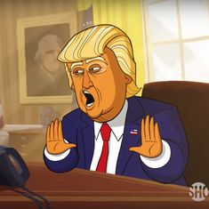 Watch: Stephen Colbert brings Donald Trump to animated life with 'Our Cartoon President'