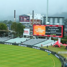 India vs South Africa: Third day's play abandoned as drought-hit Cape Town finally receives rain