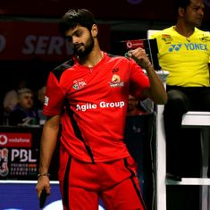 Marin's rout of Saina, Sai Praneeth's easy win over Srikanth takes Hunters to top of PBL table