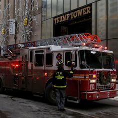 New York: Fire breaks out on the roof of Trump Tower, two injured