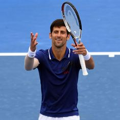 Novak Djokovic feeling great after beating Thiem in comeback match after six months