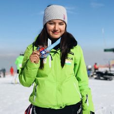 Reaching new heights: Aanchal Thakur wins India's first international medal in skiing
