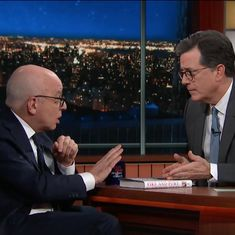 Watch: Michael Wolff tells Stephen Colbert to believe everything in his book about Donald Trump
