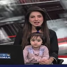 Watch: Pakistani TV anchor brings daughter to news bulletin to protest against rape of 7-year-old