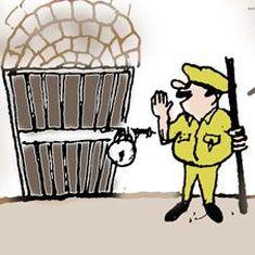 कार्टून : आधार की सुरक्षा का आधार